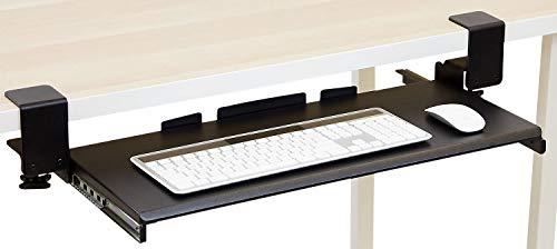 Mount-It! Monitorständer/Tischständer mit LCD-Halterung, verstellbar, freistehend, 2 Computer-LED-Displays, 20/23 / 24/27 Zoll Bildschirmgrößen, Schwarz Clamp on (Keyboard Und Computer Mount)
