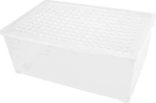 Curver  -  Caja para Ropa y Textil del Hogar 45L. - Con Tapa - Color Cristal