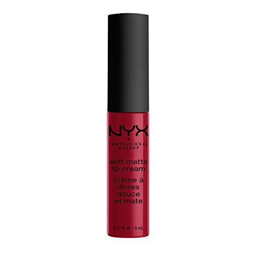 NYX Professional Makeup Rouge à Lèvres Soft Matte Lip Cream, Fini Mat Crémeux, Couleur Ultra-Pigmentée, Tenue Longue Durée, Teinte : Monte Carlo