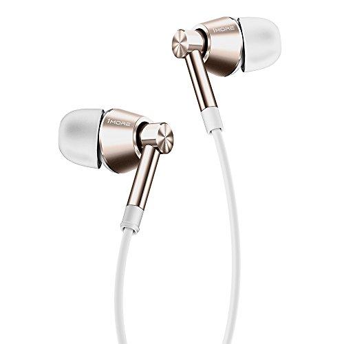 1MORE Dual Driver Kopfhörer in ears Hi-Fi Ohrhörer mit Mikrofon und Fernbedienung Kompatibel mit Apple und Android (Gold, EO323)