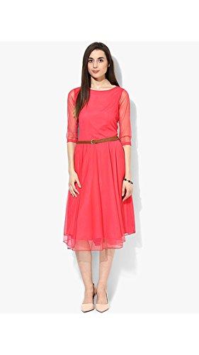 Vipul Women's Branded Pink Casual Wear Georgette Tunic (Best Gift...