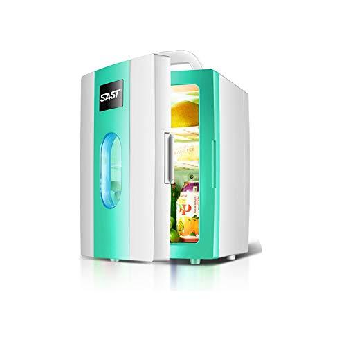 PXQ Auto Kühlschrank Tragbare Auto Kühlbox 10L Mini Auto Kühlschrank Dual-use-Kühler/Wärmer Enthält Stecker für Home Outlet & 12V Auto-Ladegerät,Green -