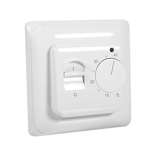 Garosa Mechanisch Manuell Thermostat Energiesparend Temperatursteuerung Schalter Weiß Fußbodenheizung Werkzeug 230V -