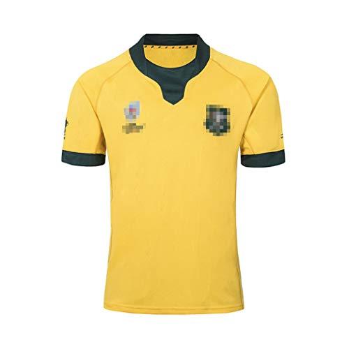 ZSZKFZ 2019 Weltmeisterschaft Australian Heim- Und Auswärts Rugby Jersey, Rugby-T-Shirt (Color : Yellow, Size : XL)