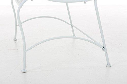 CLP Metall-Gartenbank RONJA im Landhausstil, Eisen lackiert, 108 x 55 cm, 2er Sitzbank Weiß - 8