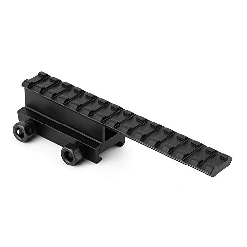 Alomejor Jagd Picatinny Flat Top Adapter Verlängern Weaver Scope Rail 20mm