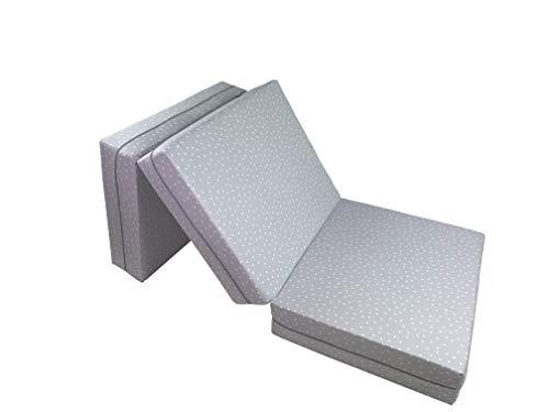 Joyfill Deluxe Klappmatratze, Klappbares Gästebett für Kinder und Erwachsene - 180x70x15cm - (5018P Punkte grau) (Mama Produkte Patch)
