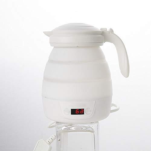 TXDY Tragbarer 800ml Silikon-Klappkessel, Mini-Heizung-Tee-Kaffee-Flasche, Doppelspannungs-Teekessel für Outdoor Camping Backpacking Reisen (Wasserkocher Pizza Grill)
