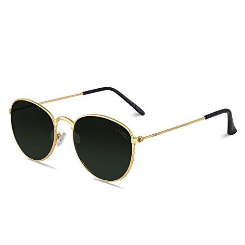 Laurels Royal UV Protected Oval Shaped Unisex Sunglasses (Ls-Ryl-040606|50|Green)