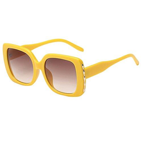 LLonGao Frauen-Mann-Weinlese-großer Rahmen-quadratische Form-Sonnenbrille Eyewear Retro Unisex Sonnenbrillenhalte Mehrere Farben Augengesundheit UV-Schutz Sonnenbrille