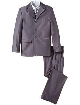 Niños Oficial gris traje de boda incluye camisa blanca y gris corbata edad de 6meses–15años