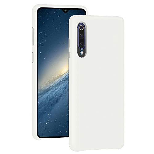 Pacyer Funda Compatible con Xiaomi Mi 9, Ultra Suave TPU Gel de Silicona Case Protectora Suave Flexible teléfono Absorción de Impacto Elegante Carcasa Compatible Xiaomi Mi 9 Se (Blanco, Mi 9)