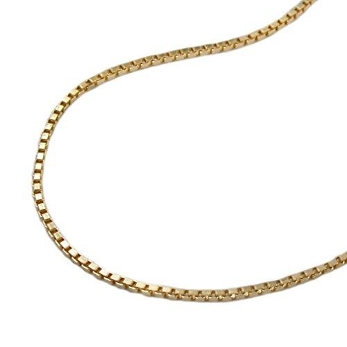 Unbespielt Modeschmuck Kette Halskette Venezianerkette vergoldet diamantiert für Frauen Länge 50 cm x 1 mm Anhängerkette Double Kette Damen -