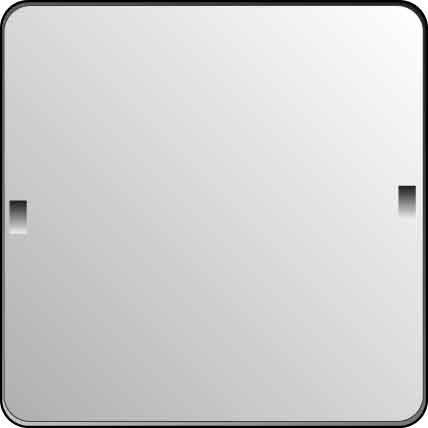 Elso Blindabdeckung 80 x 80 REN, reinweiß, 503024