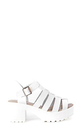 Damen Weiß Lexi Fisherman Cleated Sandal Weiß