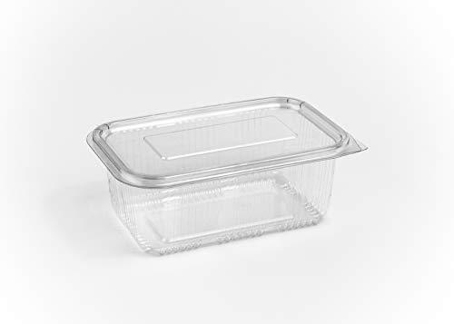 (confezione da 80) 1000ml insalata contenitori rotondi incernierato take away fast food box coperchi in plastica usa e getta trasparente storage bowls cafe ristorante