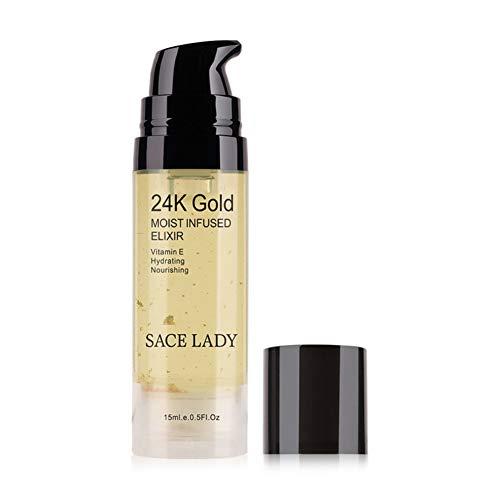 Oyalaiy SšŠrum 24k Gold 15ml Soin du visage Base de maquillage Maquillage liquide liquide