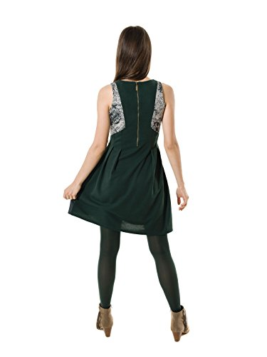 Smash! Majen, Abito Semplice Donna Verde (Dark Green) (scuro)