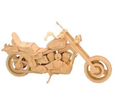 Harley Davidson 3D Holzpuzzle K86297 - Bausatz zum Zusammenstecken aus Naturholz, bemalbar *** wunderschönes Geschenk ***