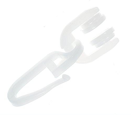 Gardinenröllchen T-Schiene T-Rollen mit Faltenhaken 100 Stück