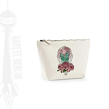Kosmetiktasche (M) 'Kristallmond- gezeichnet' Baumwoll Canvas