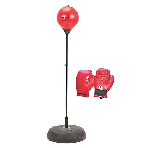 Equinox Punching Ball Base Zavorrabile Regolabile in Altezza con Guanti 8 Oz. Rosso