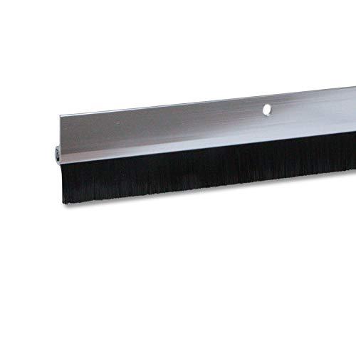 1 x Türdichtung / Türbürste aus Aluminium (silber, 1m, 1 Stück)