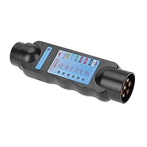 Pudincoco 12V 7-polige Anhängersteckdose LKW-Anhänger-Steckdose Tester Auto Wiring Schaltung Leuchttestwerkzeug Elektrik Diagnose-Tools