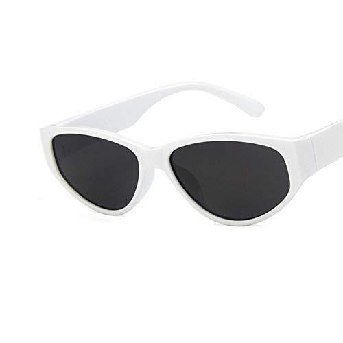 YLNJYJ Sonnenbrillen Cat Eye Sonnenbrillen Damen Rot Schwarz Frames Vintage Glasses