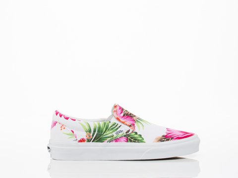Vans Classic Slip-On Hawaiian Floral Black Blanc