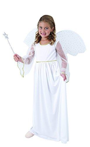 Weihnachtsengel Kostüm mit Flügeln - Engelskostüm Kinder Größen 110-140 - Engel Kostüm Mädchen (Flügel Engel Kostüme)
