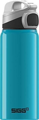 Sigg Miracle Alu Waterfall, Kinder Trinkflasche, 0.6 L, BPA Frei, Aluminium, Türkis