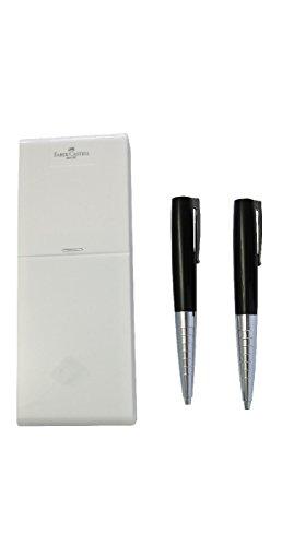 Faber-Castell 249012 - Schreibset Loom Piano, Bleistift und Kugelschreiber, schwarz