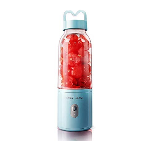 HKANG® Mini Batidora Portátil Licuadora Para Fruta Recargable Juice Blender Con Centrífuga Contenedor De Jugo Smoothies Zumos y Verdura Milkshake,Blue