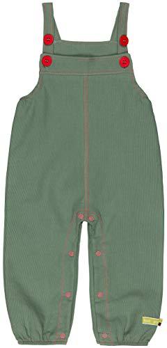 loud + proud Unisex Baby Latzhose Rippenstruktur, aus Bio Baumwolle, GOTS zertiziziert, Grün (Olive Oli), 80 (Herstellergröße: 74/80) (Latzhose Baumwoll)