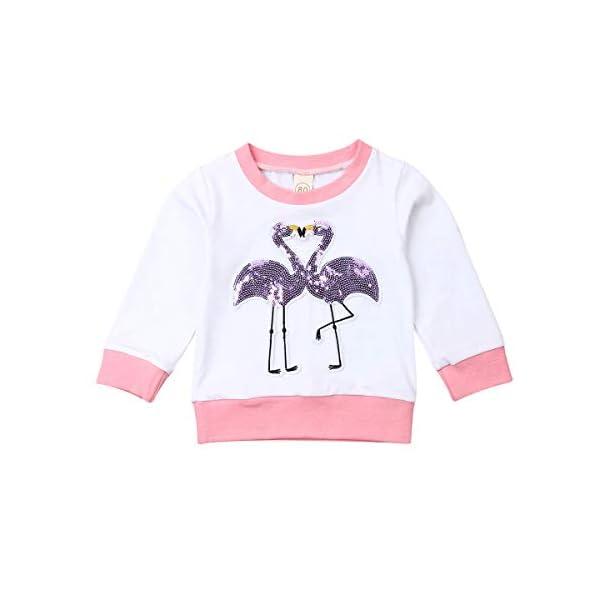 Camiseta Bebé Niña Sudadera sin Capucha de Manga Larga Top Ropa Invierno para Niñas Pequeñas Camiseta con Patrones… 1