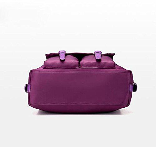 Damen Reisetasche Nylon Tasche Schulter Schulter Schräge Kreuz Tasche Purple