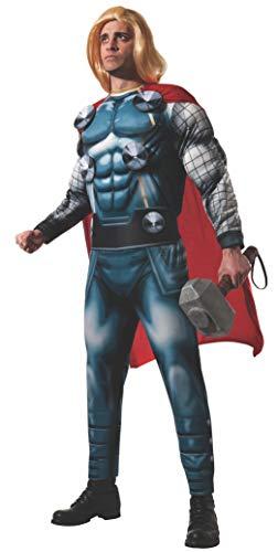 Thor Deluxe Kostüm Adult - Rubie's Offizielles Marvel Thor Deluxe-Kostüm für Erwachsene, Größe XL