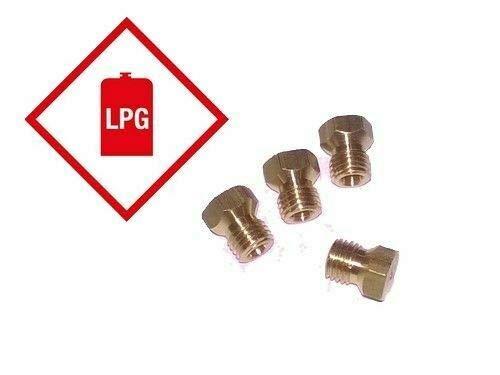 LPG Umrüstsatz 4 Pack 1 x 50, 2 x 70, 1 x 87 Gewinde M6 x 0,75 (Für Gasherd Grill)