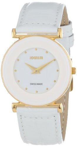 Jowissa - J3.019.M - Montre Femme - Quartz Analogique - Bracelet Cuir Blanc