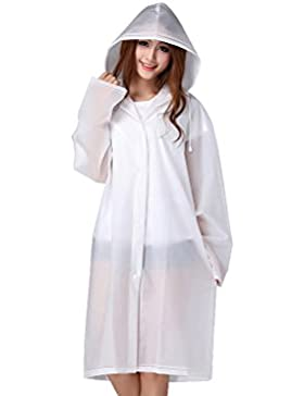 Feicuan Unisex impermeables Rainwear Hooded EVA Transparent Rain Poncho impermeables Raincoat para Adult