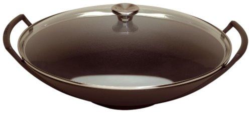 Le Creuset 21304360000472Wok Deckel Glas mit Zubehör schwarz matt 4,5l 36cm