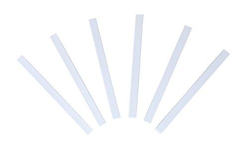 Windhager Magnet-Profile Magnet-Türschliesser Magnetstreifen, Zubehör für Insektenschutz-Türen Fliegengitter-Türen, 6 Sets, weiß, 10 x 0,8 cm, 03532