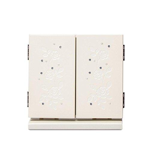 Meydlee Tragbare Tabletop Spiegel Faltbare Carve Holz Make-up-Spiegel , d