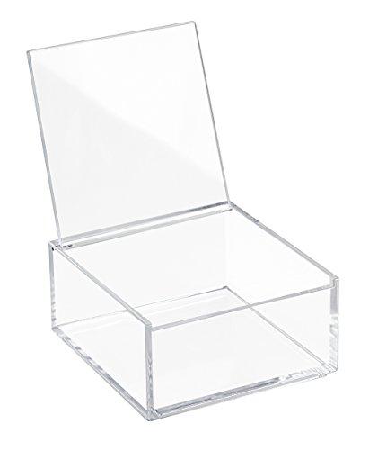 InterDesign 39550EU Clarity Aufbewahrungsbox mit Deckel, 5 cm Hoch, Durchsichtig Runde Aufbewahrungsboxen