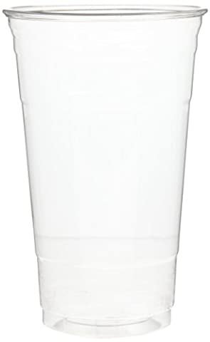 Dixie CP24 Plastic PETE Cup, 24oz Capacity, Clear (12 Sleeves