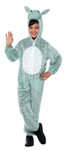 Halloweenia - Kinder Kinder Jungen Mädchen Kostüm Plüsch Esel Donkey Deluxe Fell Einteiler Onesie Overall Jumpsuit, perfekt für Karneval, Fasching und Fastnacht, 104-116, ()
