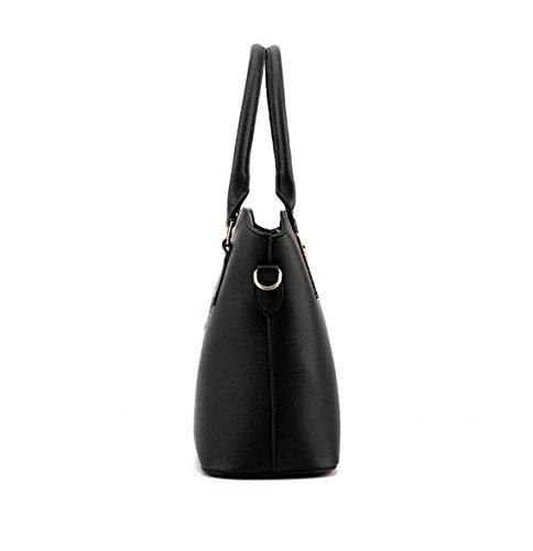 Damen PU Wilde Handtasche 3 Sätze Von Sub-Paket Tasche Schultertasche Messenger Tasche Einfache Shell Tasche Handtaschen Blue