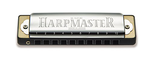 suzuki-mr200c-harpmaster-harmonica-diatonique-en-do-10-trous-chrome-10cm