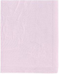 Pirulos Globo - Toquilla tricot, algodón, 95 x 95 cm, color rosa